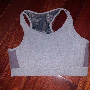 Women's Gray & Purple Sports Bra